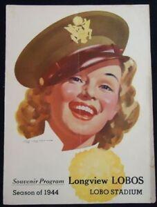 1944-Vintage-Football-Program-LONGVIEW-JACKSONVILLE
