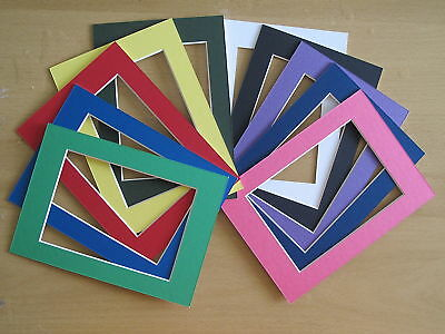 20pc 11x14 Color Photo/ Picture Mats for 8x10