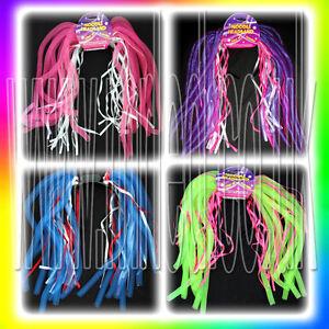 NEW-Neon-Party-Flashing-Light-Up-LED-Noodle-Headband-Hairband-Dreadlock-Wig