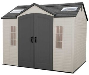 Lifetime 10x8 plastic garden storage shed kit 60005 ebay for 10x8 shed floor plans