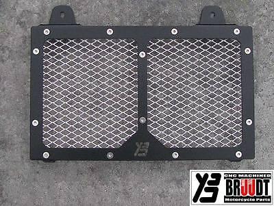 BRUUDT RADIATOR GUARD for Yamaha MT03 MT 03 MT-03 Black-Silver