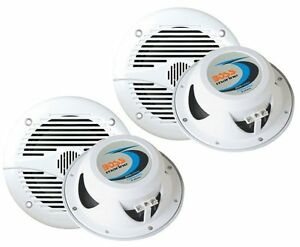 4-NEW-BOSS-MR60W-6-5-2-Way-400W-Marine-Speakers-White
