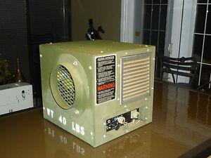 Portable-Heater-Furnace-Gasoline-or-Diesel-28-Volt-dc-Military-Grade-15000-btu-039-s