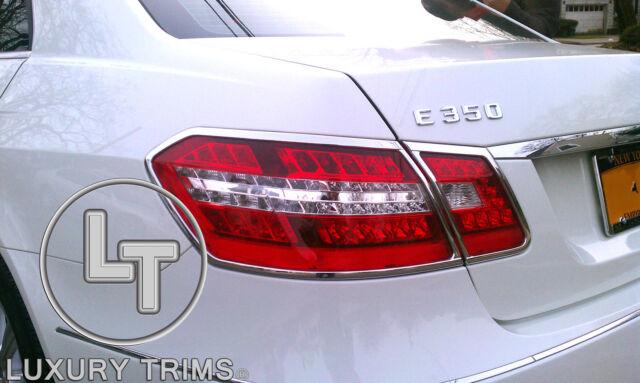 Mercedes E Class W212 Chrome Taillight Trim Bezels by Luxury Trims 2010-2013
