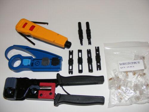 Punch tool krone / bix / 110 / 66 rj45 crimp crimper cat 5 cat 6 stripper rj-10