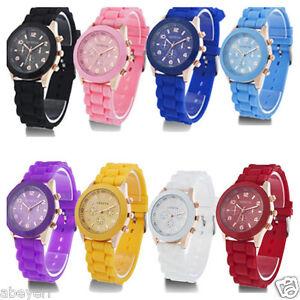 Fashion-Luxury-Geneva-Silicone-Quartz-Ladies-Women-039-s-Men-Girl-Jelly-Wrist-Watch