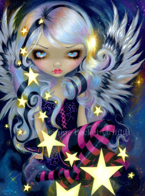 Jasmine Becket-Griffith art print SIGNED Angel of Starlight fairy space big eyed