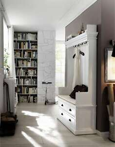 garderobe garderobenschrank landhaus landhausstil shabby chic wei massiv neu ebay. Black Bedroom Furniture Sets. Home Design Ideas
