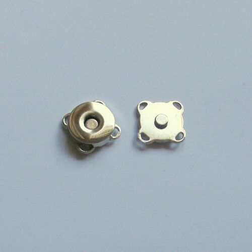Sew On Magnetic Bag Clasps 14mm Nickel x 10