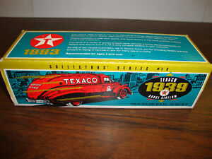 Texaco-1939-Dodge-Airflow-10-Locking-Coin-Bank-With-Key-7-034-Long-COA-1993