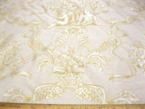Fabric-COTTON-Blend-JACQUARD-Cherub-pattern-VY601