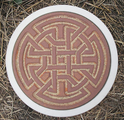 Plaster,concrete celtic stepping stone plastic mold