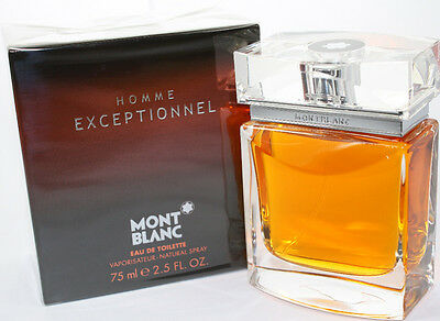 HOMME EXCEPTIONNEL BY MONT BLANC 2.5 OZ EDT SPRAY FOR MEN NEW IN BOX