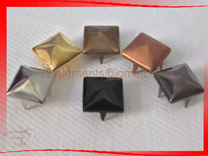 6-mm-Pyramid-Studs-in-6-colour-Rock-Design-spikes-spots-Leathercraft-Access