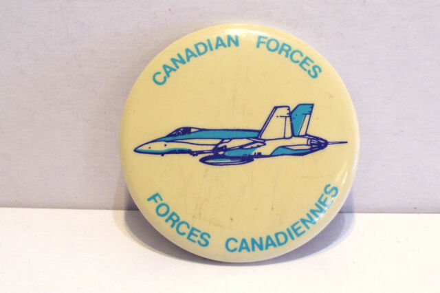 Canadian Forces Canadiennes Canada Pinback Pin Button Bomber Post WW IIVintage