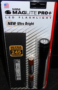 MINI-MAGLITE-PRO-PLUS-LED-FLASHLIGHT-245-LUMENS-2-MODES-with-POUCH-SP-P01H-NEW