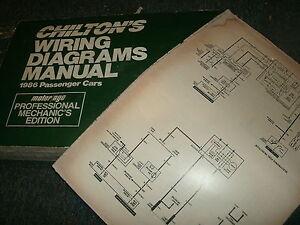 1986 CHEVROLET CHEVETTE OVERSIZED WIRING DIAGRAMS SCHEMATICS ... on