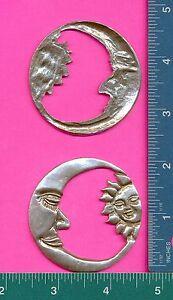 6 wholesale lead free pewter moon sun flats D4110