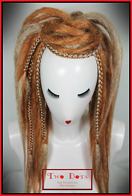 Strawberry Blonde, Plaits, Synthetic Dread Falls, Burning Man, Hippie, Wig Rasta