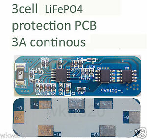 3-cell-3A-LiFePo4-Lithium-ion-phospate-Battery-Input-Ouput-Protection-PCB-A123
