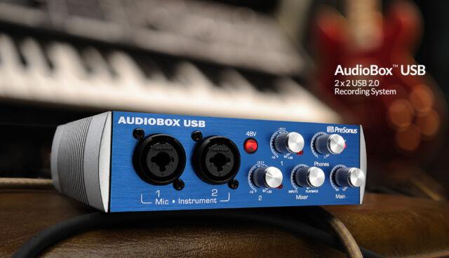 PreSonus AudioBox USB Computer Recording System w/ Studio One FREE PRIORITY SHIP
