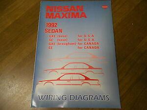 1992 Nissan Maxima Wiring Diagram Service Repair Shop ...