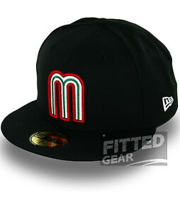 MEXICO-BLACK-WORLD-BASEBALL-CLASSIC-WBC-Series-New-Era-59Fifty-Fitted-Hats-Caps