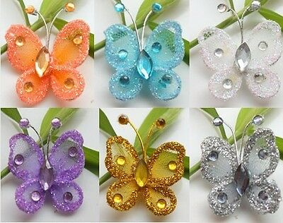 """12pc 1""""Nylon Stocking Butterfly Wedding Supplies Decorations"""