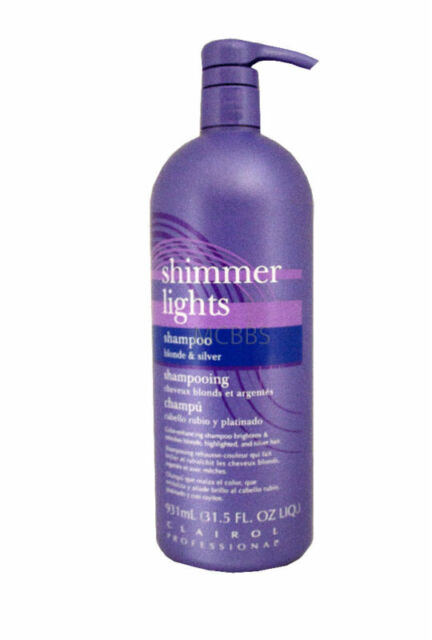 CLAIROL SHIMMER LIGHTS SHAMPOO BLONDE & SILVER 31.5 OZ.