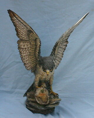"Boehm Limited Edition Bone Porcelain 22""H Falcon statue   MAGNIFICENT"