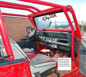 Jeep Yj Cj Front Roll Cage Kit Dom Tubing Rock Koz O R Ebay