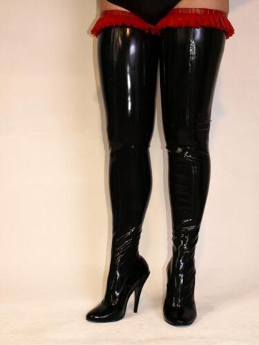 Overknee Stiefel Lack Latex 100% 37 38 39 40 41 42 43 44 45 46 47 FS891