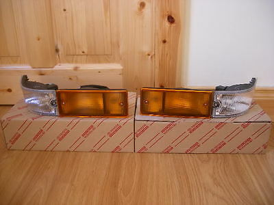 Toyota Ae86 Trueno JDM Kouki Front Bumper Lights Pair New Genuine Rare