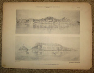 Vintage-1910-Architectural-Heliotype-Print-French-Classical-Estate