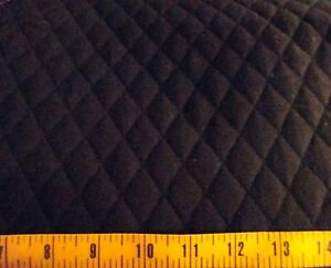 Solid Black QUILTED FABRIC Double Sided 1  Diamond Pattern BTY | eBay : quilted fabric - Adamdwight.com
