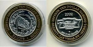 Ballys-Ten-Dollar-10-Gaming-Token-999-pure-silver-w-gold-tone-edging-9-11-2001