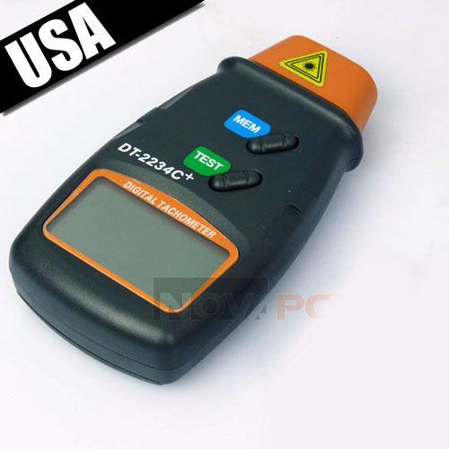 Digital Laser Photo Tachometer Non Contact RPM Tach Meter Motor Speed Gauge USA 1