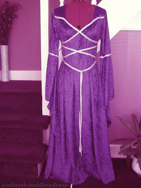 Maid Marian medieval pagan Wedding dress handfasting laced bodice LOTR LARP