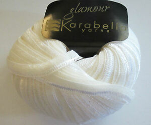 50-off-KARABELLA-Glamour-Merino-Ribbon-Yarn-White