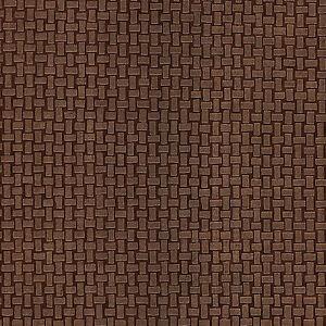Metallic bronze copper mosaic brick tile effect feature for Brick wallpaper sale