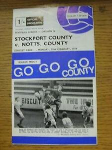 22021971 Stockport County v Notts County  Creased Sub amp Score Noted Item I - <span itemprop='availableAtOrFrom'>Birmingham, United Kingdom</span> - Returns accepted within 30 days after the item is delivered, if goods not as described. Buyer assumes responibilty for return proof of postage and costs. Most purchases from business s - <span itemprop='availableAtOrFrom'>Birmingham, United Kingdom</span>