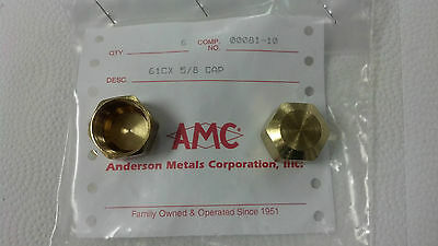 "COMPRESSION CAP, (1) ONE NUT, BRASS, FOR 5/8"" O.D. TUBING, PART#00081-10"