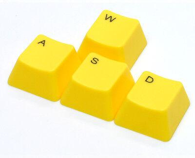 """WASD"" Gaming Cluster Cherry MX Keycaps Keycap Set - UV Printed, Yellow"