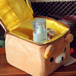 Hot! Rilakkuma San-X Relax Bear Plush Cosmetic case Storage box accessory 1pcs