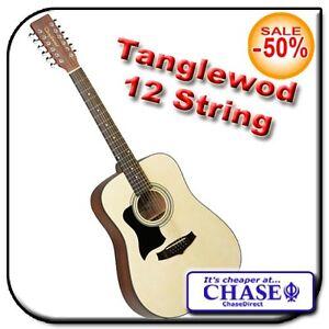tanglewood tw1200 12 string acoustic dreadnought guitar left handed lh indiana ebay. Black Bedroom Furniture Sets. Home Design Ideas