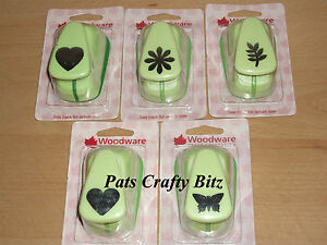 Woodware-Large-Green-Punch-2-5cm-1-034-Various-Designs