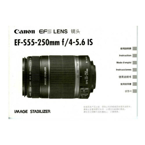 Canon EF-S 55-250mm f/4-5.6 IS *Original Manual*