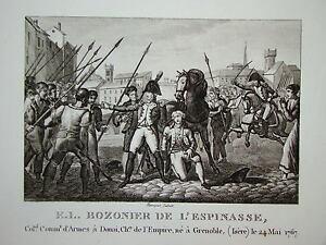 Gravure-BOZONNIER-de-l-039-ESPINASSE-GRENOBLE-NAPOLEON-1820