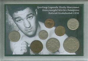 Rocky-Marciano-Vintage-World-Heavyweight-Boxing-Champion-Coin-Gift-Set-1956
