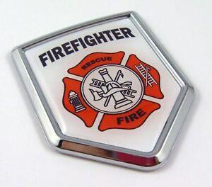 Firefighters-Flag-Car-Chrome-Emblem-Decal-bumper-Sticker-firefighter-department